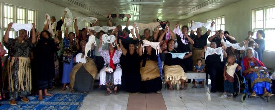 A bra distribution day - Tonga 2008